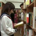 【隠れたパンチラスポット】図書館でJKのパンツ覗いてた底辺リーマン、勢い余ってチンポも挿入してしまうwwww