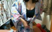 【高橋留美子!?】牛みたいなおっぱいしたぽっちゃりな女の子が着替え放送!