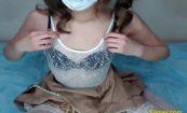 【ライブチャットエロ動画】ランジェリーパブみたいな衣装の女の子によるエロ配信