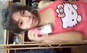 【BigoLive】キティーちゃんの裸エプロンで放送する女の子