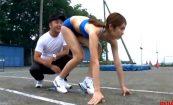 【時間停止シリーズ】クラウチングスタート体勢な女子陸上選手に喰らうチンコさせてみた