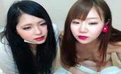 【ライブチャットエロ動画】女の子2人組が仲良くエロ配信!
